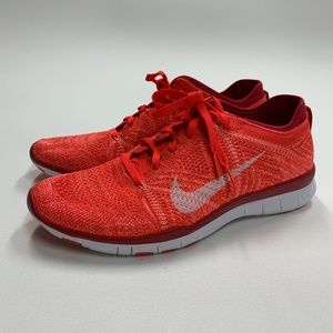 Nike Women's Free TR Flyknit Bright Crimson 8 US